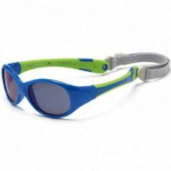 KOOLSUN - Flex - Kinder zonnebril - Blue Lime - 3-6 jaar
