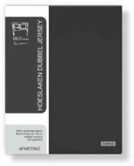 Antraciet-grijze Dubbel Jersy Dubbel Jersey Hoeslaken Extra Dikke kwaliteit | 180x200 cm - Antraciet | 100% Zacht Comfort Katoen