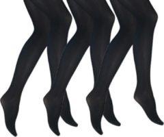 Merkloos / Sans marque 3 pack - Iris panty - 60 denier - zwart - 38-40