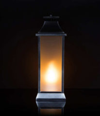 Lumesso Laterne mit realistischem Flammeneffekt