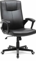 Zwarte Songmics Luxe bureaustoel met modern design