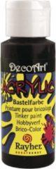 Grijze Rayher hobby materialen Zwarte Acryl hobby verf 59 ml