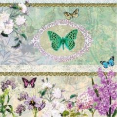 Ambiente Servetten 33x33cm Butterfly Medaillon