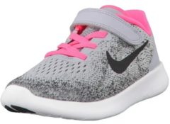 Rosa Laufschuhe Free RN 2 (PSV) mit Strick-Obermaterial 904260-600 Nike Wolf Grey/Black-Racer Pink-White