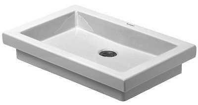 Afbeelding van Witte Duravit 2nd floor inbouwwastafel zonder overloop zonder kraanvlak 58x41.5cm wit 0317580029