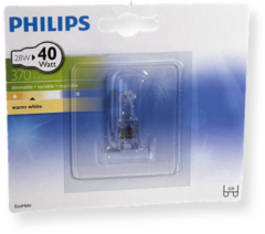PHILIPS Halogeenlamp G9 28W 370Lm capsule EcoHalo