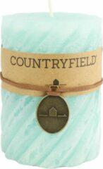 Countryfield Stompkaars met ribbel Turquoise Ø7 cm | Hoogte 15 cm
