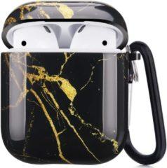 Shieldcase Amazing Black Marmer Case geschikt voor Airpods Case - zwart