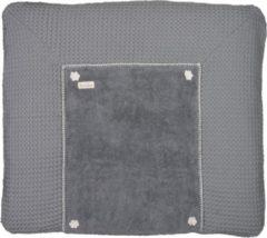 Licht-grijze Koeka Aankleedkussenhoes wafel Bonn - steel grey 78x90cm