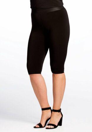 Afbeelding van Yoek | Grote maten - dames fietsbroek trend slim fit - zwart