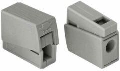 Wago 224 kroonklem enkele geleider klem, grijs, min. kabeldoorsnede (installatiedee