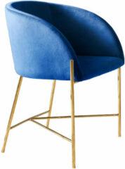 Artistiq Living Artistiq Eetkamerstoel 'Lara' Velvet, kleur Blauw