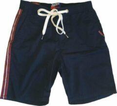 Superdry Blauw chino short katoen stretch - Regular fit Short Maat W29
