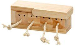 Flamingo Knaagdierspeelgoed Rody Brain Train Kist - Speelgoed - 21.3x8.5x7.3 cm Naturel