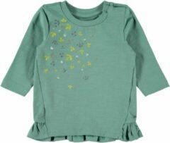Groene Name it Name-it Newborn Meisjes Tshirt Lisbeth Trellis - 74