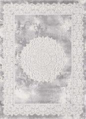 Impression Harmony - Medaillon - 120x160 cm - Grijs - Laagpolig Vloerkleed