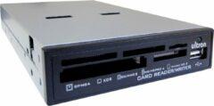 """Ultron, UCR 75 in 1 interne USB 2.0 3,5"""" Kaartlezer met front USB poort (Zwart)"""