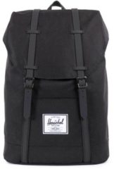 Zwarte Herschel Retreat Rugzak Black/Black Synthetic Leather