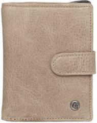 Castelijn & Beerens Tri-fold portemonnees Carisma Tri Fold Zip Wallet Grijs