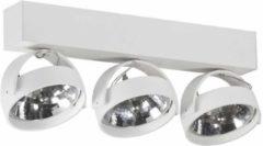 Artdelight - Plafondlamp Dutchess 3L - Wit - 3x LED 15W 2200K-3000K - IP20 - Dim To Warm