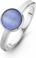 Casa Jewelry Ring Melody Blue 52 Cateye - Zilver