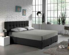 Zachte Dubbel Jersey Lits-jumeaux Hoeslaken Grijs   160/180x200/210/220   220 gr/m2 Dichtgebreid   Comfortabel
