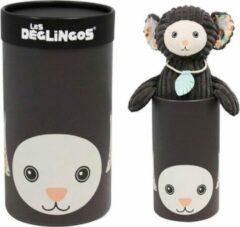 Les Deglingos knuffel aap in doos bruin 33 cm