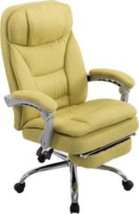 CLP XL Bürostuhl TROY mit Armlehne, Stoff-Bezug, Relaxsessel mit Fußstütze ausziehbar, Chefsessel, Belastbarkeit bis 160 kg,