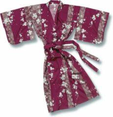 TA-HWA Traditionele Japanse Kimono Yukata Sakura Rood Dames Nachtmode kimono One Size