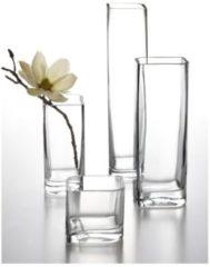"Leonardo Vase ""Lucca"" aus Glas, eckig, klar, 20 x 11 x 9,5 cm, transparent (1 Stück)"