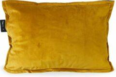 Sit & Heat - Warmtekussen Rectangle Okergeel 40 x 60 cm voor binnen en buiten. [kussen van velours/Velvet/Fluweel]