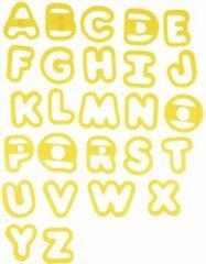 HEMA Uitdrukvormpjes Alfabet (geel)