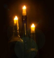 Witte Suck UK Candle Bottle Light - oplaadbaar
