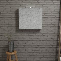 Zaro Beam Spiegelkast 80x70x16cm wit marmer 1 deur
