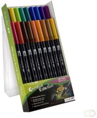 Alles Voor Kleuren Tombow dual brush pen abt, 18-colours-set, primary colours