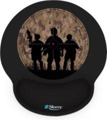 Zwarte Muismat polssteun oorlog - Sleevy - mousepad - Collectie 100+ designs