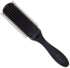 Zwarte Denman - Medium 7 Row Styling Brush - Zwart - D3