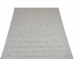 Veercarpets Vloerkleed Tino - Grijs - 160 x 230 cm - Wol - Viscose - Handgeknoopt kleed