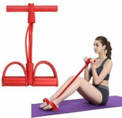Bodio Weerstandsband - Resistance band - Fitness elastiek - Weerstandbanden Fitness - Fitness krachttraining - Fitness - Yoga - Binnen - Buiten - Full body workout - Rood