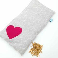 Witte Pittenzak Met Pit warmtekruik / coldpack Valentijn cadeau met hartje