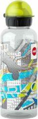 Blauwe Emsa TEENS Drinkfles, 0,6 Liter, Motief: Parcours
