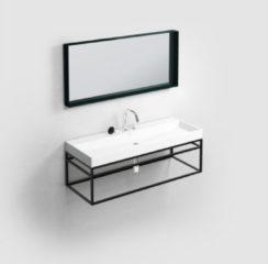 Clou (New) Wash Me Frame kokerprof. 110cm mat zwart poederlak CL/07.49.111.21