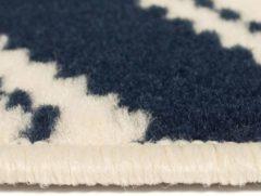 Vidaxl Vloerkleed Modern Zigzag Ontwerp 120x170 Cm Bruin/zwart/blauw