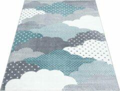 Bambi Vloerkleed - Clouds - Rechthoek - Blauw - 120 x 170 cm - Vintage, Patchwork, Scandinavisch & meer stijlen vind je op WoonQ.nl