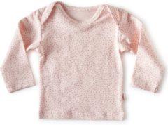 Little Label - baby - T-shirt - lichtroze, roze stipjes - maat 56 - bio-katoen