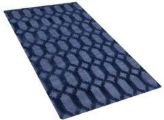 Beliani Vloerkleed marineblauw 80 x 150 cm CIZRE