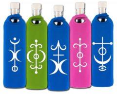 Flaska Trinkflasche Spiritual Neopren - 0,75 L Yogistar rosa - Liebe