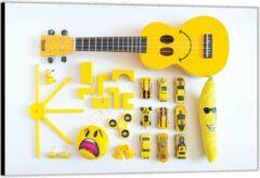 KuijsFotoprint Dibond –Geel Kinderspeelgoed– 150x100 Foto op Aluminium (Wanddecoratie van metaal)