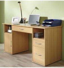 Schreibtisch Tisch Computertisch Laptop PC Fach Schubladen Buche 'Tallinn' Büro Möbel 73 x 145 x 60 VCM Buche