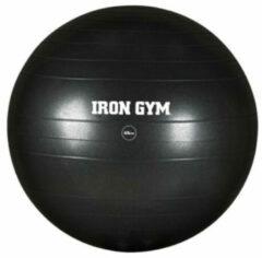 Zwarte Iron Gym exercise ball – fitnessbal voor stabiliteitstraining – 65 cm – incl.pomp